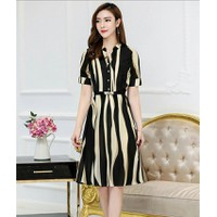 Đầm xòe sọc vintage