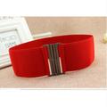 Thắt lưng thun bản rộng đơn giản đỏ V75