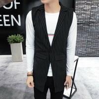 áo khoác ghilê blazer sọc Mã: NK1223
