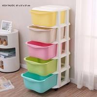 Tủ nhựa 5 tầng 5 ngăn để quần áo trẻ em