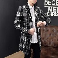 áo khoác blazer dáng dài họa tiết Mã: NK1212 - ĐEN