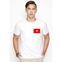 Áo thun nam in lá cờ Việt Nam góc phải - Có 2 màu