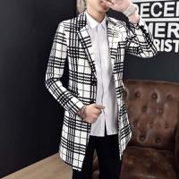 áo khoác blazer dáng dài họa tiết Mã: NK1212 - TRẮNG