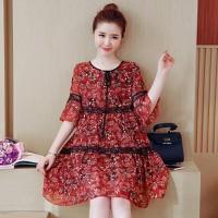 Váy xoè hoa hàng Quảng châu cao cấp