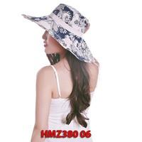 Mũ  chống nắng họa tiết hoa