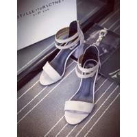 Giày sandal cao gót nữ 2 quai - Hàng xuất EU