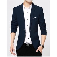 áo khoác vest nam xanh navi