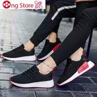 GIÀY ĐÔI Giày thể thao cặp đôi nam nữ gân đế đỏ