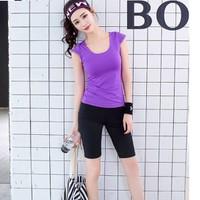 BT8282-1 - Bộ tập nữ áo ngắn và quần ngắn - giá 790k
