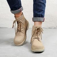 Giày cao cổ nam thời trang G15 kem