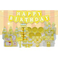 Sét sinh nhật để bàn Mega màu sắc