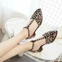 giày sandan rọ nữ đinh tán hàng nhập loại 1