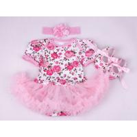 Body công chúa họa tiết hoa hồng cho bé từ 3 đến 18 tháng
