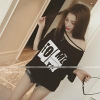 áo thun nữ oversize to me Mã: AX2494 - ĐEN