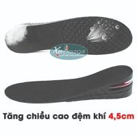 Bộ 2 Miếng Lót Giày Tăng Chiều Cao Đệm Khí  2 Lớp 4,5cm
