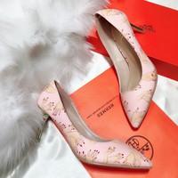 giày cao gót bít mũi hàng 1 chất da đẹp