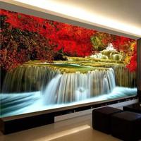 tranh thêu chữ thập phong cảnh mùa thu 237x102cm