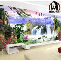 tranh thêu chữ thập phong cảnh 150x57cm