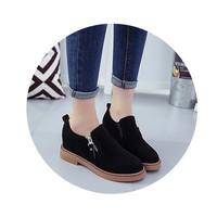 giày Oxford nữ khóa kéo cao cấp