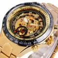 Đồng hồ nam Winner TM432 cơ lộ máy dây thép không gỉ - Full Gold Đen