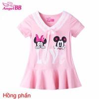 Đầm size nhí 2 chuột Mickey Love xinh iu cho bé gái