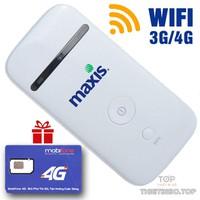 Thiết bị phát WIFI từ sim 3G, 4G ZTE MF65 - KHUYẾN MẠI SIM 4G
