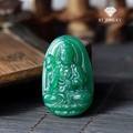 Mặt Dây Chuyền Phật Đại Thế ChíĐá Mã Não Xanh Lá Cao Cấp