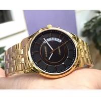 Đồng hồ nam siêu mỏng Sunrise DM781SWA kính Sapphire - Dây vàng