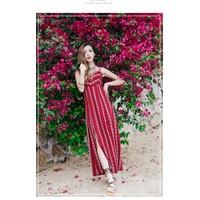 Đầm đi biển, váy maxi xẻ tả hở lưng – MX50