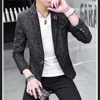 áo khoác blazer nam lịch lãm Mã: NK1211 - ĐEN