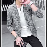 áo khoác blazer nam lịch lãm Mã: NK1211 - XÁM