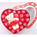 Hộp quà 20 bông hồng + gấu | hộp quà sinh nhật | Quà Tặng