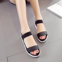 Sandal nữ quai ngang Hàn Quốc