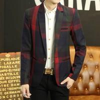 áo khoác blazer kẻ sọc phối màu Mã: NK1214 - ĐỎ