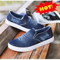 Giày lười vải bò nam mẫu mới 2018 GLK149