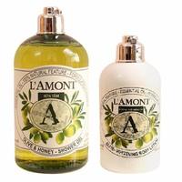 Combo Sữa Tắm Và Sữa Dưỡng Thể Lamont En Provence Olive