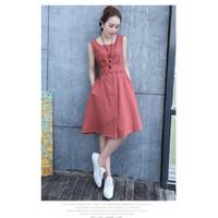 Đầm xòe sát nách phong cách Hàn Quốc