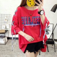 áo thun oversized cestlane Mã: AX3550 - ĐỎ