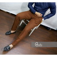 Quần Tây Nam Công Sở Cao Cấp Dáng Ôm H fashion - Màu nâu đất