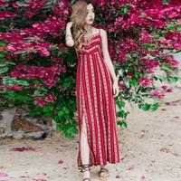 Váy đầm đi biển - Váy đầm đi biển - Váy maxi xẻ tà 2 dây