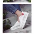 Giày bata nữ phối đỏ