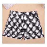 quần short kaki lưng cao caro Mã: QN539 - 1