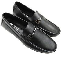Giày lười nam da thật cao cấp kiểu dáng trẻ trung AD13D