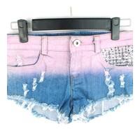 quần short jeans phối màu Mã: QN582 - HỒNG NÂU