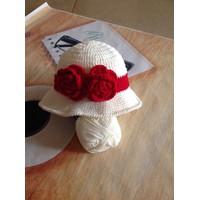 Nón len che nắng handmade cho bé SL028