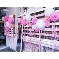 Hoa giấy handmade trang trí backdrop đám cưới Đường kính 20cm