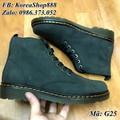 Giày Dr Cổ Lửng Da Bò Mã G25