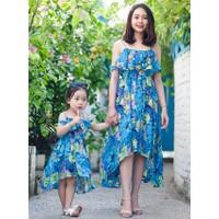 MAGARITA MAXI - Đầm maxi đi biển cho mẹ và bé - váy mẹ