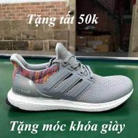 Giày ultra boost thể thao xám thời trang