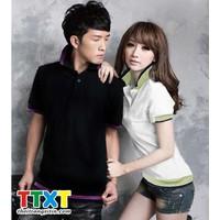áo thun couple kiểu hàn quốc Mã: NT695 - TRẮNG